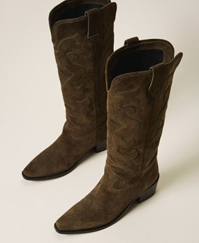 Suede Texas boots