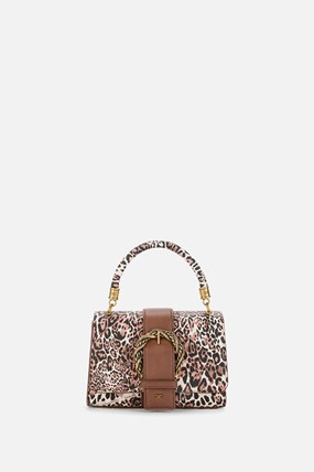 Animalier clutch bag with buckle and shoulder strap