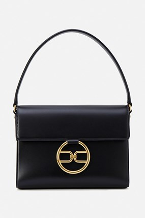 Maxi bag with golden logo
